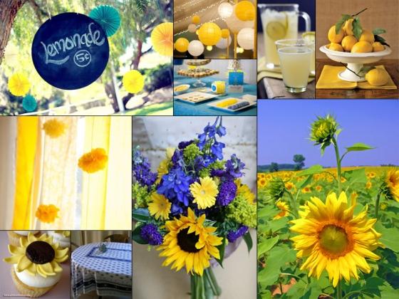 Sunflowers and Lemonade Inspiration Board