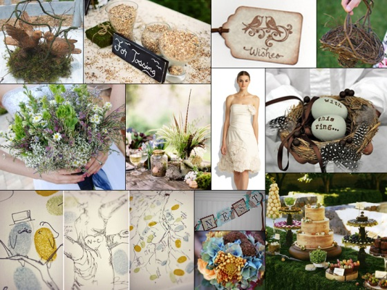 Rustic Birds Wedding Inspiration Board - Events by Elisa