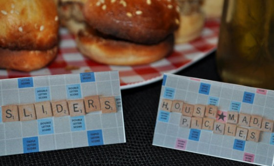 Scrabble Board Food Tags
