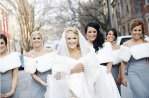 Winter Bridesmaids in Gray from The Knot