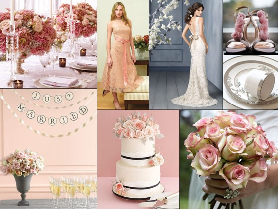 Blush Lace Inspiration Board - Events by Elisa