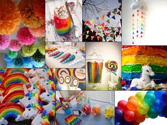 Enchanted Unicorn & Rainbows Inspiration Board - Events by Elisa