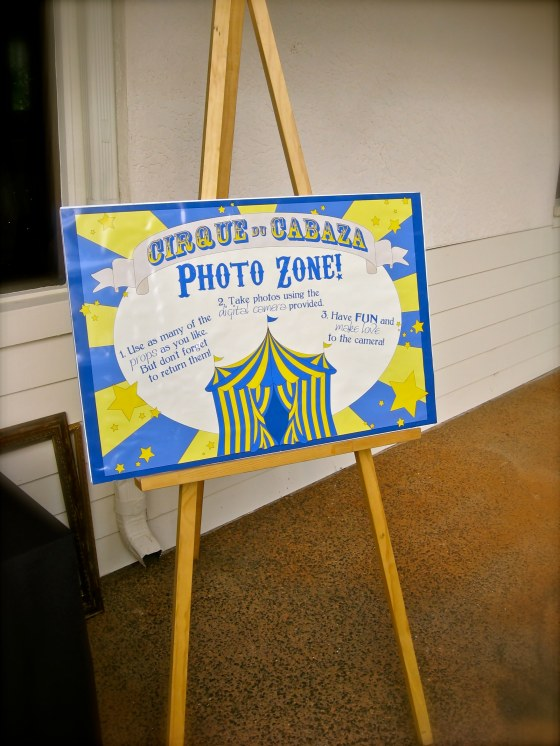 Cirque du Cabaza Photo Zone Instructions - Events by Elisa