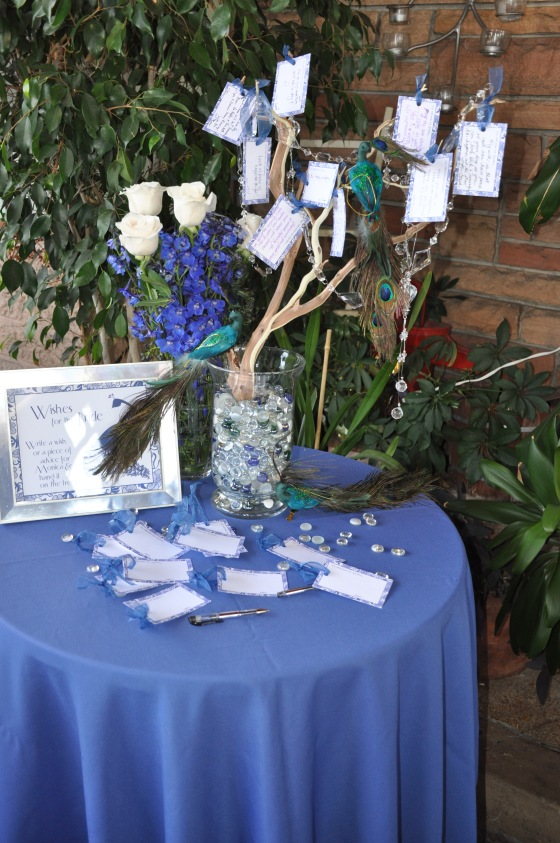 A peacock wishing tree with custom tags - Events by Elisa