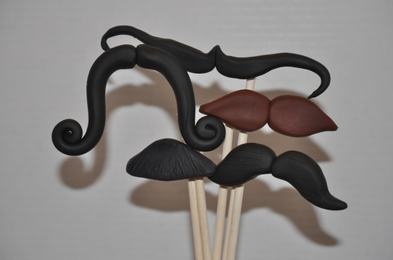 Handmade Moustaches - $45 for 5 Assorted - Events by Elisa