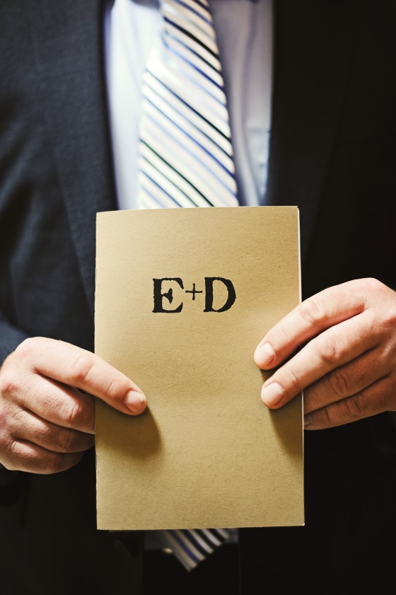 E+D Wedding Program