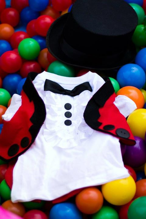 Ringmaster Suit in the Ball Pit
