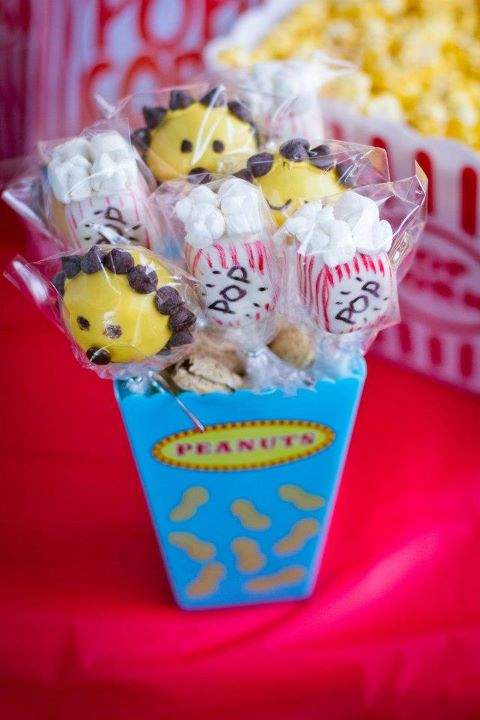 Lion and Popcorn Cake Pops by Calculated Whisk