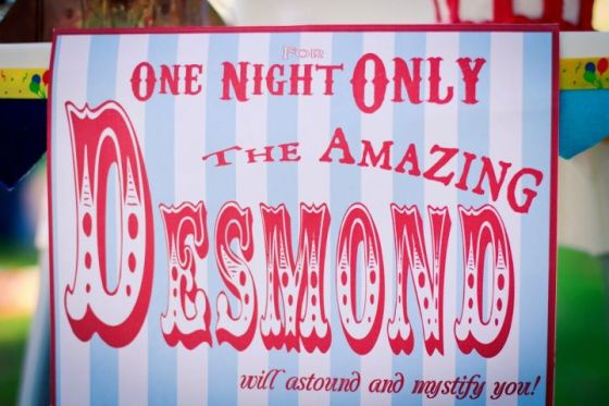 The Amazing Desmond sign for his high chair