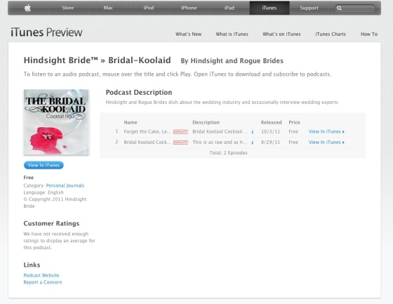 Bridal Kool-Aid Cocktail Hour Logo on iTunes!