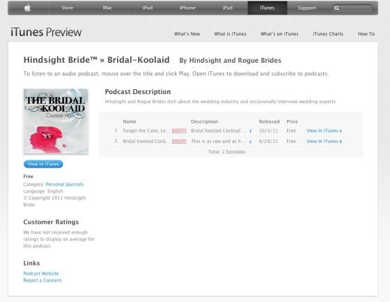 Bridal Kool-Aid Cocktail Hour Logo on iTunes!