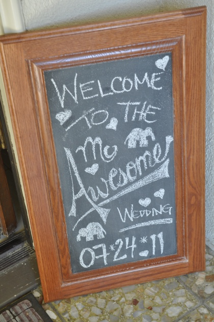 Welcome to the McAwesome Wedding hand drawn sign by Events by Elisa