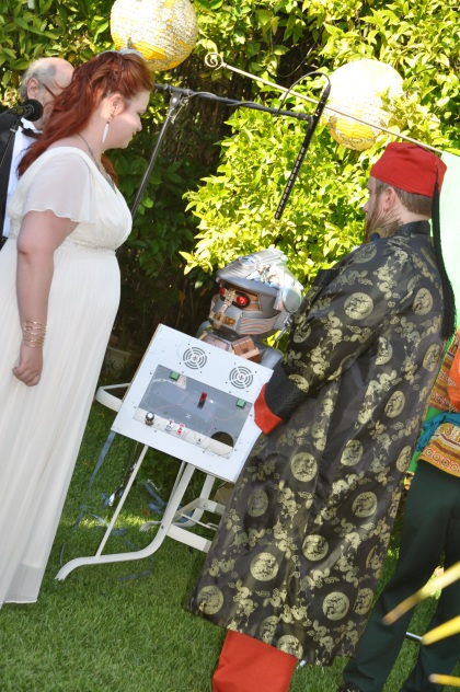 Married by a Robot.  Oh yes.