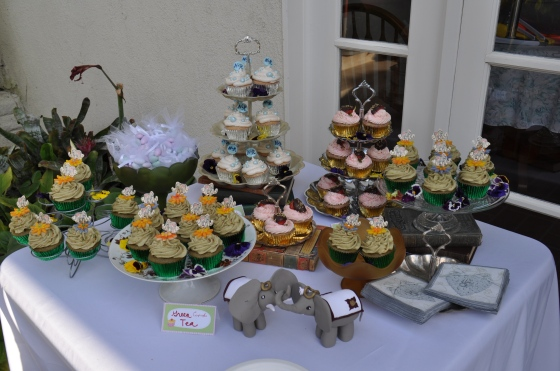 Cupcake Table by Events by Elisa and Courtesan Cupcakes!