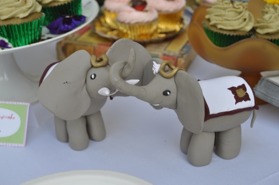 Handmade Elephant cake toppers by Events by Elisa