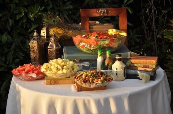 A buffet can be beautiful, no matter what is being served!
