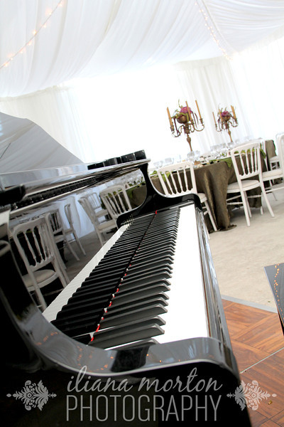 The beautiful piano provided by Greene Music