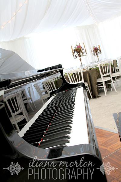 The beautiful piano provided by Greene Music
