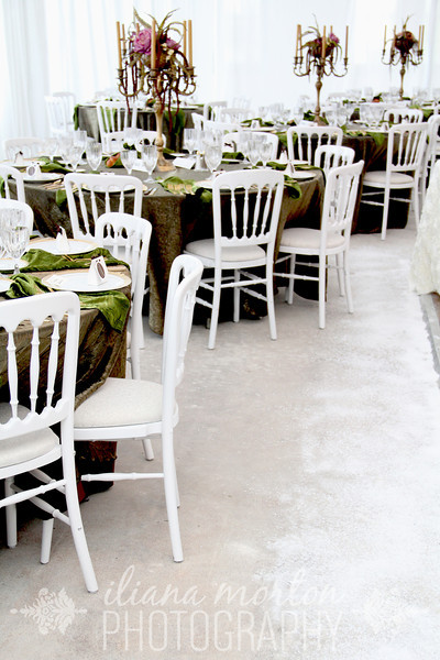 Scattered Snow on the floor of the reception!
