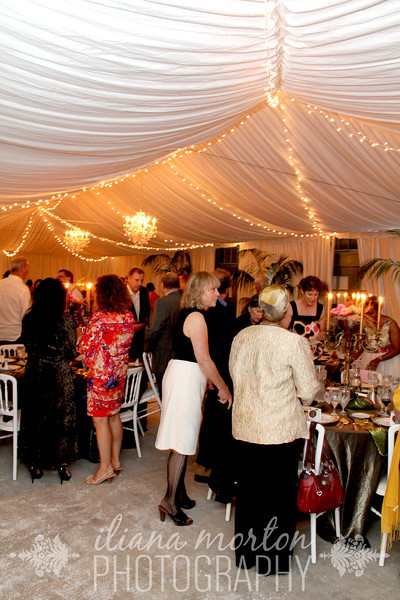 Reception with Twinkle Lights by Raphael's Party Rentals!