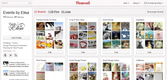 Events by Elisa on Pinterest!