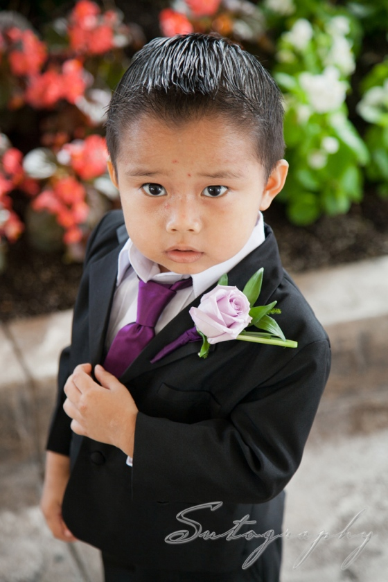 I love this little guy!  The ring bearer, photo by Sutography
