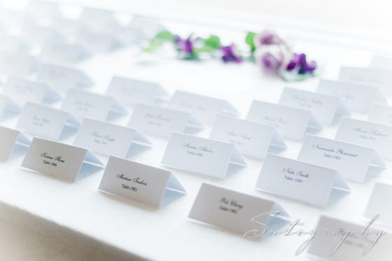 Escort Cards arranged lovingly by Events by Elisa intern Rachael, photo by Sutography