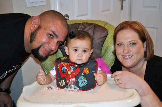 Maya's adorable Dia De Los Muertos bib, and her family!