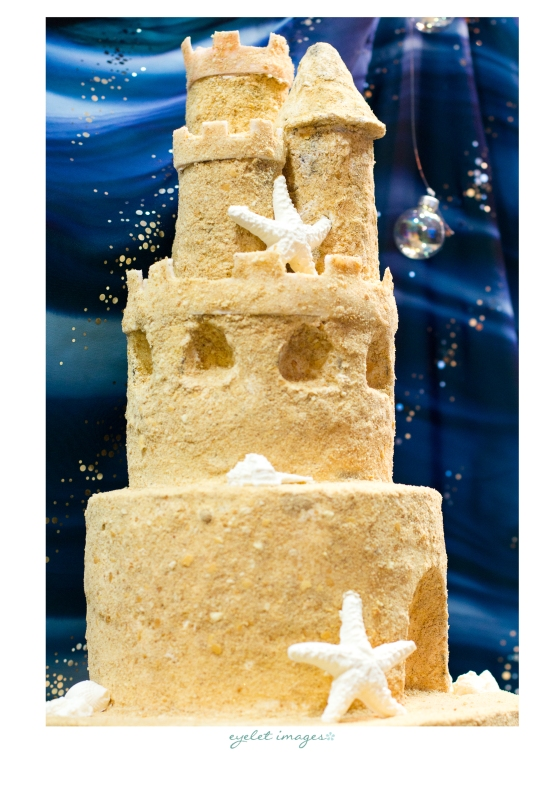Gorgeous sand castle cake by Hey There, Cupcake!
