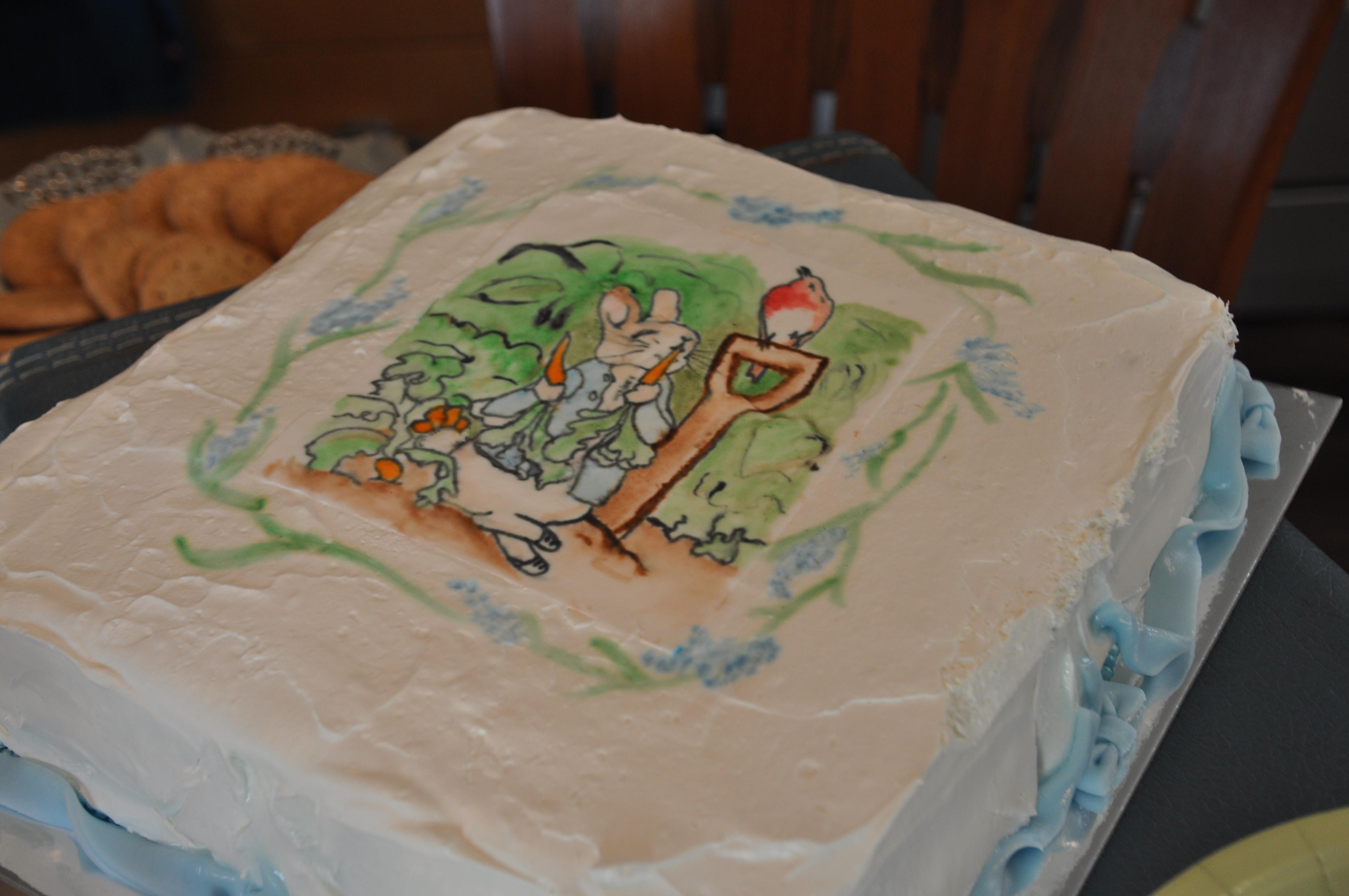 Peter Rabbit Sheet Cake on Peter Rabbit Word Search